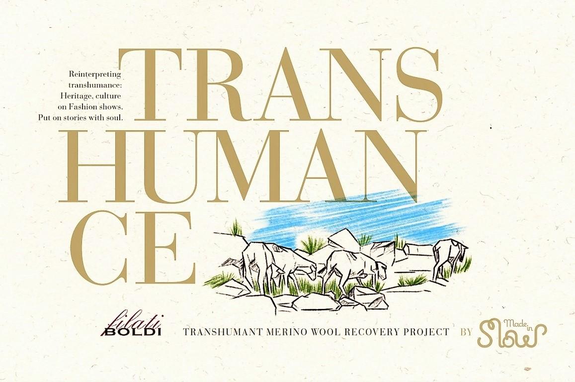 """Imagen de la primera hoja de presentación de """"Transhumance by Made in Slow"""" en ingles"""